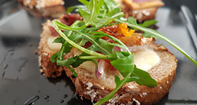 Weekend brunch bruschetta